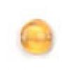 Glass Bead Flat 6mm Topaz - Strung
